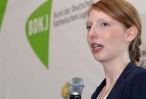 Katharina Norpoth aus Gelsenkirchen, BDKJ-Bundesvorsitzende,